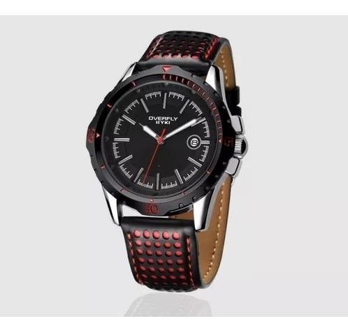 Relógio Eyki - Overfly - Novo, Na Caixa - Preto Com Vermelho
