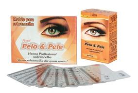 Henna P/ Sobrancelha Pelo & Pele + 1 Cx C/ 10 Moldes