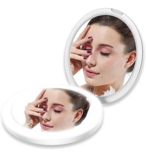 Espejo Cosmético Compacto De Doble Cara Touchbeauty, Con Ani