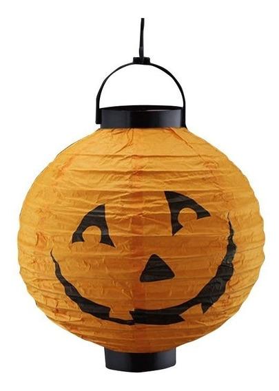 Luminária Led De Abobora Decoração Halloween Festa Bruxas
