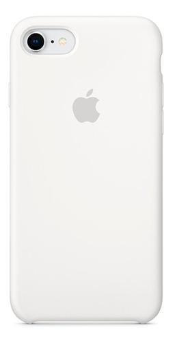 Carcasa Funda Estuche En Silicona Para iPhone 7 Blanco