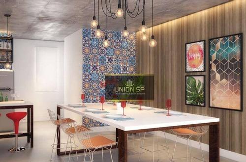 Apartamento Com 1 Dormitório À Venda, 38 M² Por R$ 385.500,00 - Pompeia - São Paulo/sp - Ap46960