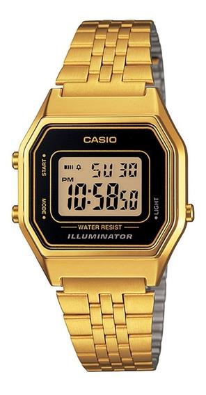 Relógio Casio La-680wga-1 Retrô Vintage Dourado Alarme