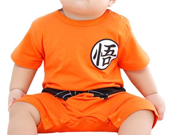 Entero Goku Body Disfraz Manga Corta Bebe