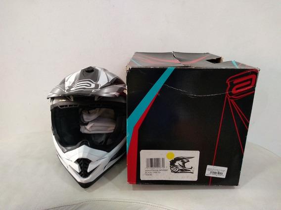 Capacete Motocross Trilha Asw Podium Nirvana Preto Original