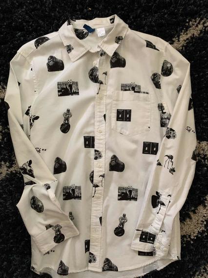 Camisa H&m De Estampado De Animales