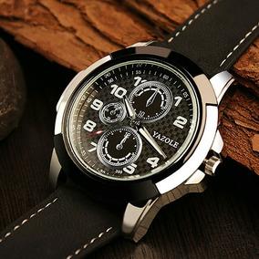Relógio De Pulso Masculino Yazole Social Pulseira De Couro