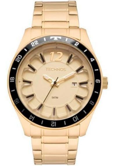 Relógio Technos Masculino Dourado/preto 3d 2117las4x