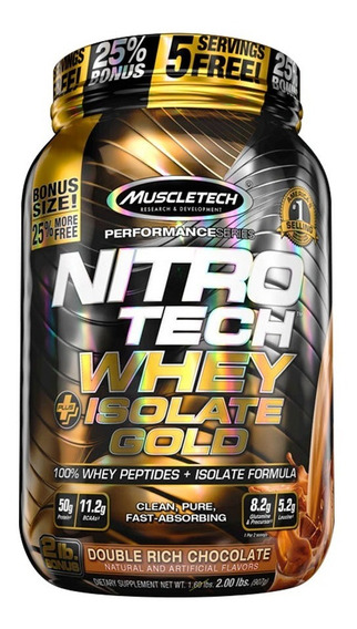 Nitro Tech Whey Gold Isolate 2 Lb Proteina Muscletech