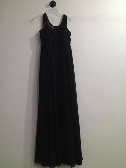 Vestido Largo Negro De Liverpool
