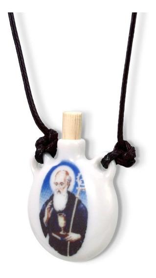 Colar Fé Religioso Porta Água Benta São Bento