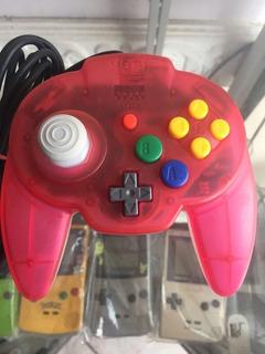 Control Hori Pad Nintendo 64 Rojo Watermelon Red Original