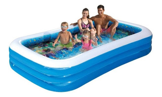 Alberca Familiar Inflable Pool 3d Summer Waves + 2 Googles