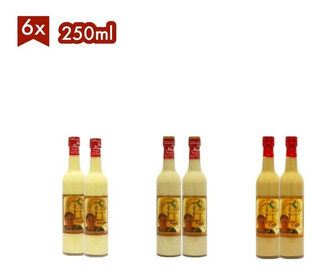 Rompope Casero Doña Margot 6 Botellas De 250ml