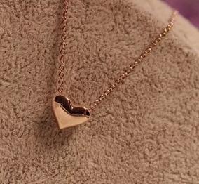 Colar Pingente Coração Gargantilha Dourado