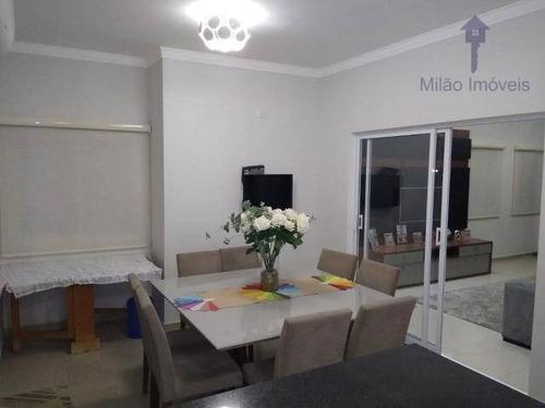 Casa Com 3 Dormitórios À Venda, 140 M² Por R$ 550.000 - Condomínio Golden Park Sigma - Horto Florestal - Sorocaba/sp - Ca0475