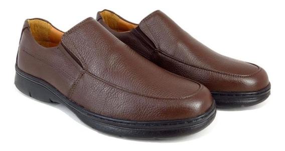 Sapato Conforto Social Masculino Couro Palmilha Macia