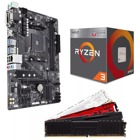 Kit Gamer Amd Ryzen 3 2200 + A320m + 8gb + 240gb + 1tb C/nf