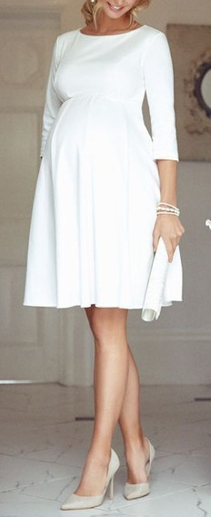 Vestido Curto Evase , Noiva Gestante , Casamento Civil #404