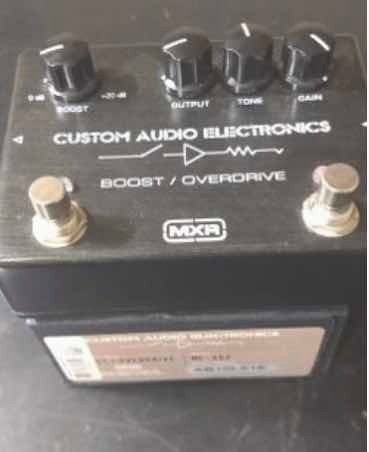 Pedal Mxr Boost Overdrive! Custom Audio!
