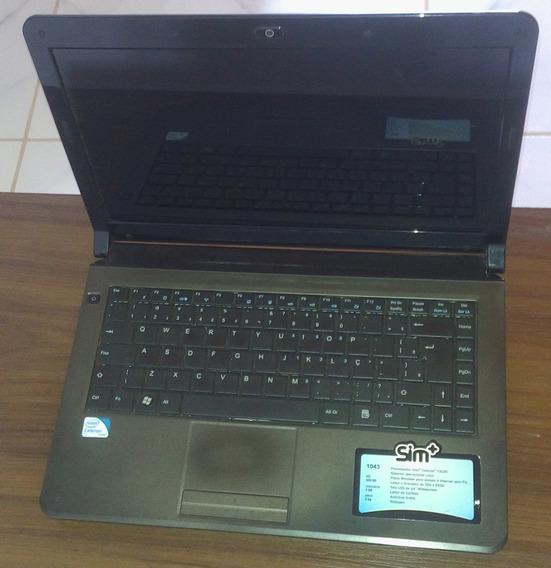Notebook Sim+ 1043 Processador Intel Celeron T3100