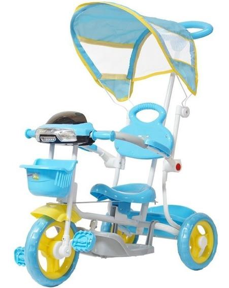Triciclo Motoca Bicicleta Infantil Passeio Empurrador Pedal