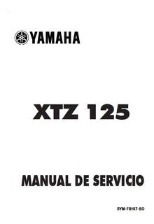 Manual De Taller Y Servicio Yamaha Xtz 125 Todos Los Años