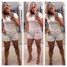 d252a623e4 Vestido Branco Com Pedraria Prata - Vestidos Casuais Femininas no ...