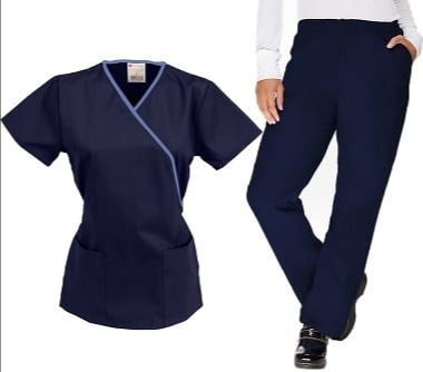 Conjunto Uniforme Médico Quirúrgico Azul Marino Dama