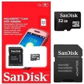 Cartão Memória Micro Sd 32gb + Adaptador Sandisk Original