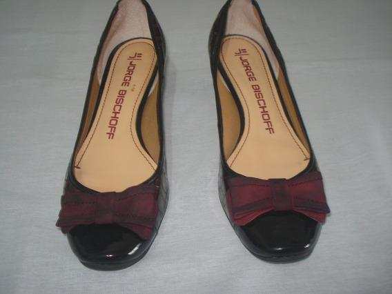 Sapato Scarpin Jorge Bischoff Lindo 35 Vinho/bordo Verão