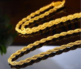 Corrente Cordão Masculino Aço Inox Ouro Banhado 70 Cm!!!