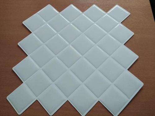 Azulejos Vinil Adhesivo Venecitas 3d Blanco 25.5x25.5cm 1038