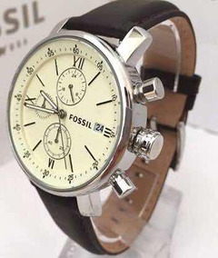 Relógio Fossil Bq1007 (masculino) Rhett - Marrom