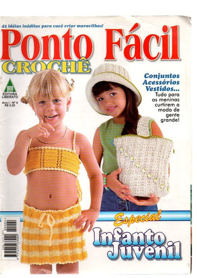 Kit 2 Revista Tricot E Crochê Bebê E Infanto Juvenil