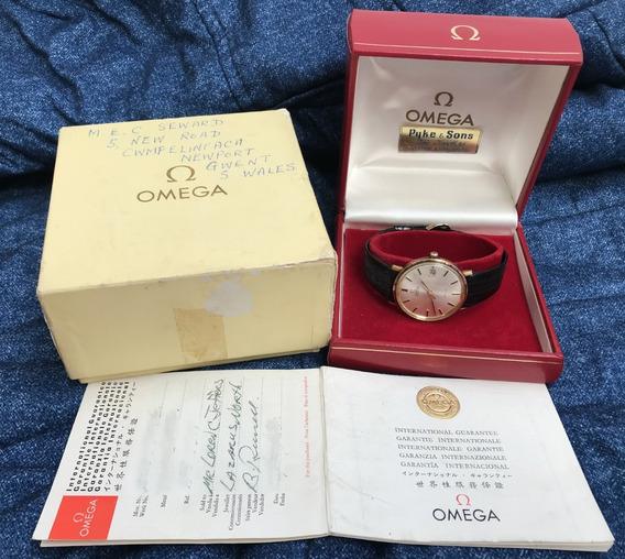 Relógio Omega Ouro 18k Maciço De Ville Automático Nunca Usado New Old Stock - 13 Anos No Mercado Livre