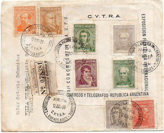 1939. Certificada Con Matasello De C Y T R A,a Brasil