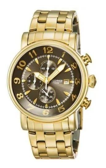 Relógio Technos Dourado Masculino Cronógrafo Os10cr/4d