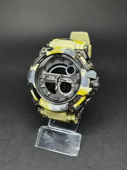 Relógio Masculino Camuflado Digital Aprova D