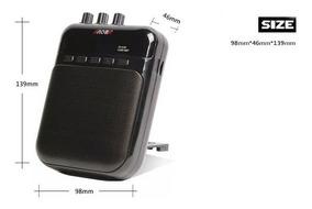 Miniamp Drive Guitarra 5w Recarrega Grava Toca Mp3