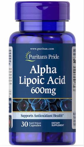 Acido Alfa Lipoico 600 Mg 30 Cáps - Unidad a $1130