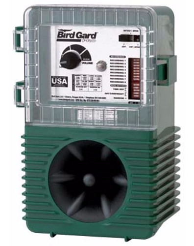 Espantapajaros Electrónico Bird Gard Pro Con Sonido De Rapaces - Representante Oficial - Original Fabricado En E E U U