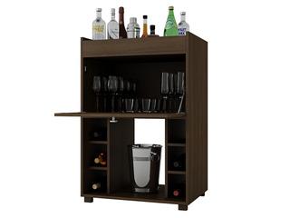 Bodega Bar Mueble Para Vino Cava Con Espejo Fullconfort