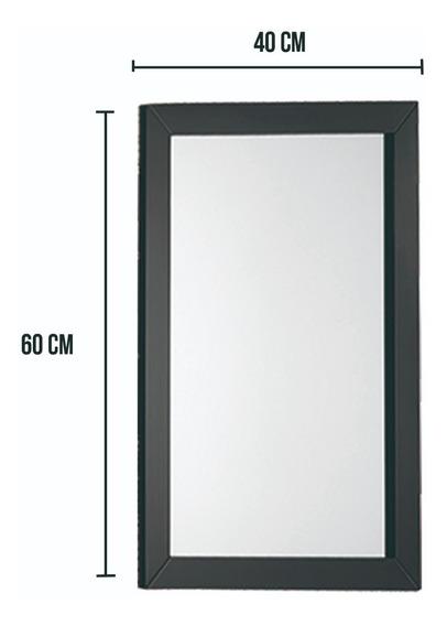 Espejo De Madera 60x40 Cm Comedor Living Baño Descoracion