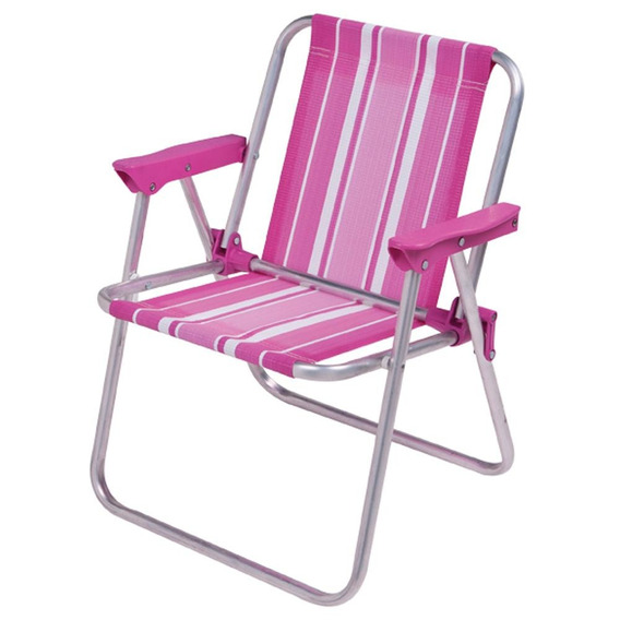Cadeira Alumínio Infantil Alta 2122 Rosa Mor Mor