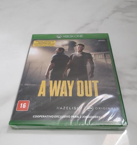 Jogo Xbox One A Way Out Mídia Física Novo Legendado Pt Br