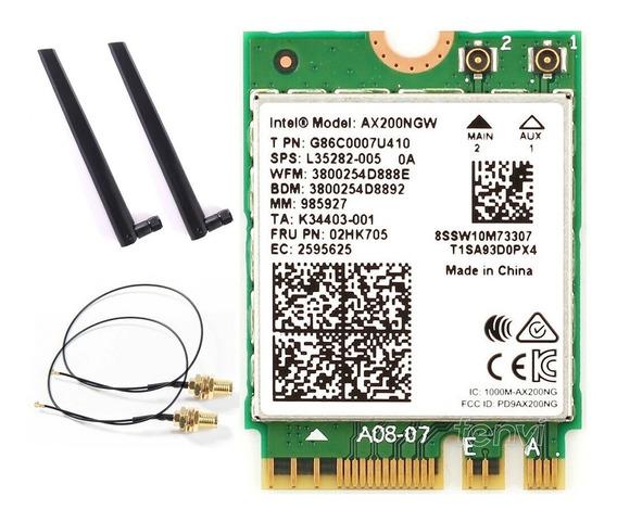 Wireless Intel Ax200 + Par De Antenas E Cabos Pigtail