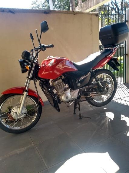 Honda Cg Fan 125 Ks Super Nova , Moto De Garagem .