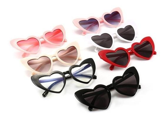 Óculos De Sol Coração Lolita Cores Moda Tumblr Feminina