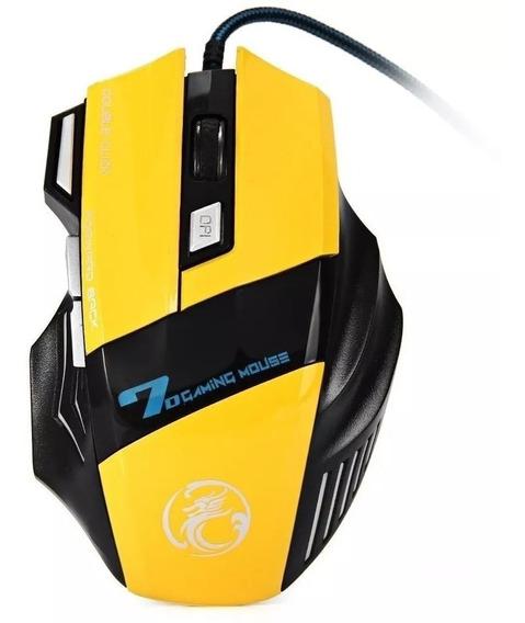 Mouse Gamer Usb Led 2400 Dpi 7 Botões Alta Precisão Barato